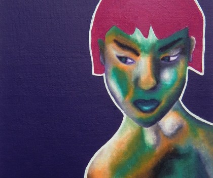 """Nude 3"", 2009 Öl auf Leinwand, 21x30 cm"