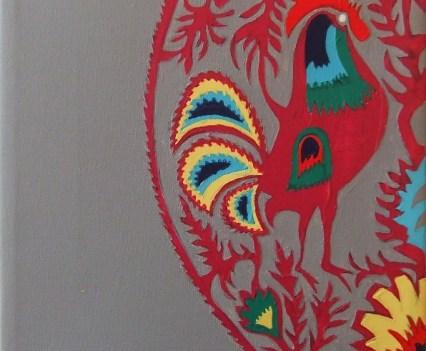 """""""Wycinanka"""", 2011 Acryl auf Leinwand, 22x22 cm"""