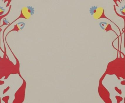 """ROH"", 2013 (Ausschnitt)Acryl auf Holz, 73,5x 73,5cm"