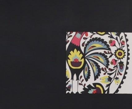 """ROH"", 2013 (Ausschnitt) Acryl auf Holz, 141x 141cm"