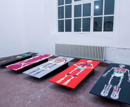 """""""Die Familie"""", 2015 (Ausstellungsansicht) Rundgang 2015, Kunstakademie Düsseldorf"""