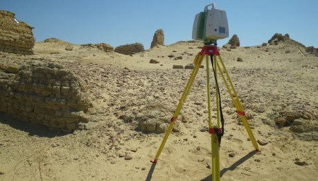 "Our three-dimensional laser scanner, ""Lulu,"" took detailed 360 degree scans of Karanis."