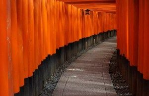 The red tunnels at the Fushimi Inari Shrine in Kyoto