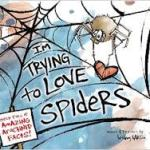 Cover of book showing a spider spinning silk around a heart shape