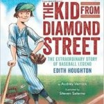 On cover of The Kid from Diamond Street a girl leans jauntily on baseball bat.