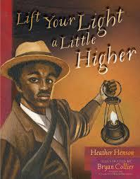 Black man holds an old-time lantern.
