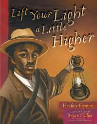 Black man holds an old-time lantern.