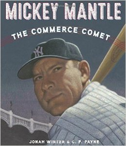 Close-up of Mickey Mantle's face as he watches for a pitch.