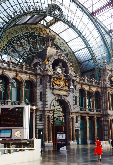 Antwerp Central Station in Belgium