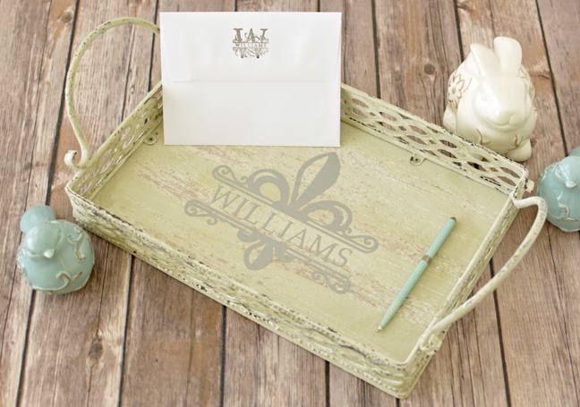 Monogrammed Letter Tray - A Simple Vinyl Project for Silhouette Beginners