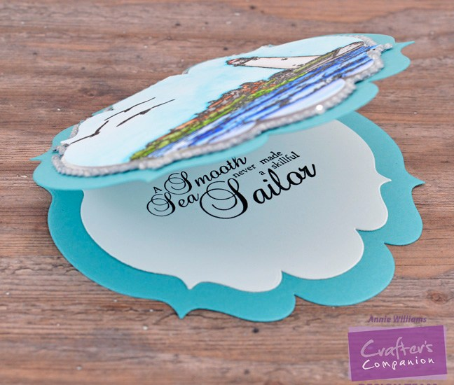 Seaside Encouragement Card by Annie Williams - Interior