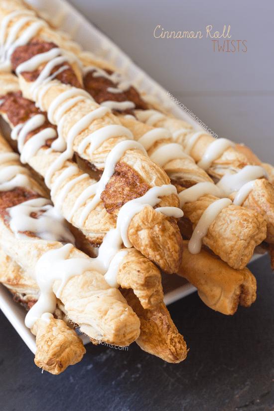 Cinnamon Roll Twists | Annie's Noms