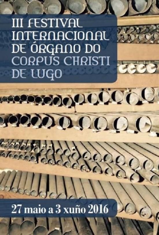 cartel festival internacional de órgano do Corpus