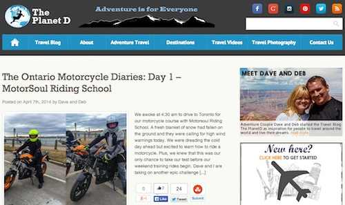 Cool travel blogs - go to The Planet D