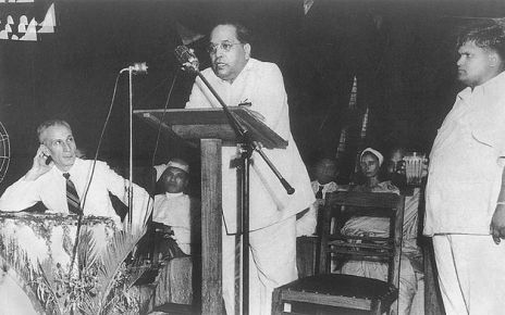 Ambedkar addressing a conference at Ambedkar Bhawan, Delhi, 20 May 1951