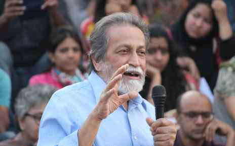Prabhat Patnaik at Stand With JNU, 9 March 2016. Photo by Subin Dennis.