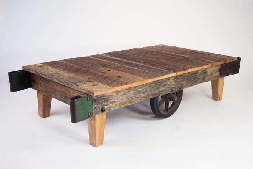 Reclaimed Wood Salvaged Wood Table, Woodstock Vintage Lumber, Two Lanes,  Mike Wolfe,