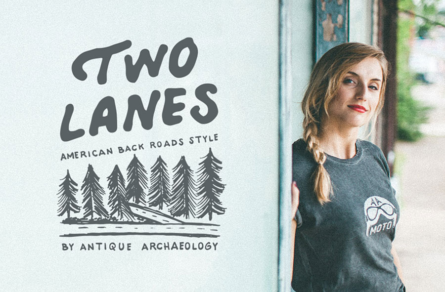 Shop our Two Lanes Collection of American Made Custom Apparel.