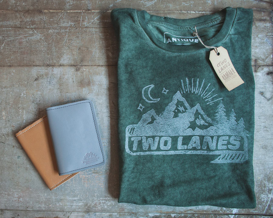 Win our Two Lanes Tee and handmade leather journals.