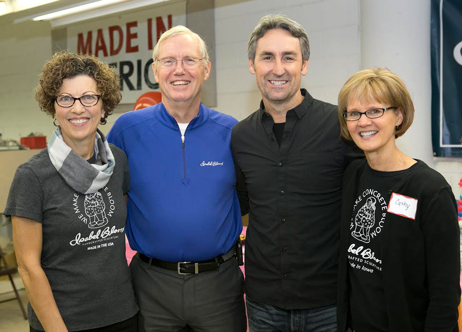 Left to right, Donna Young, (Co-owner and artist), Bill Barrett, Mike and Cathy Nevins. / Photo By: Isabel Bloom