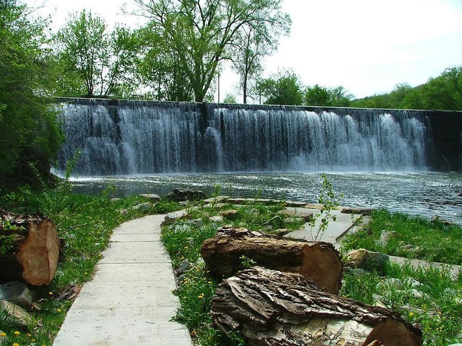 Historic hydroelectric dam. Photo via Lanesboro Area Chamber of Commerce