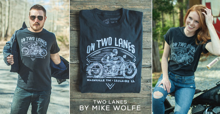 TWO LANES BY MIKE WOLFE GRAPHIC TEE