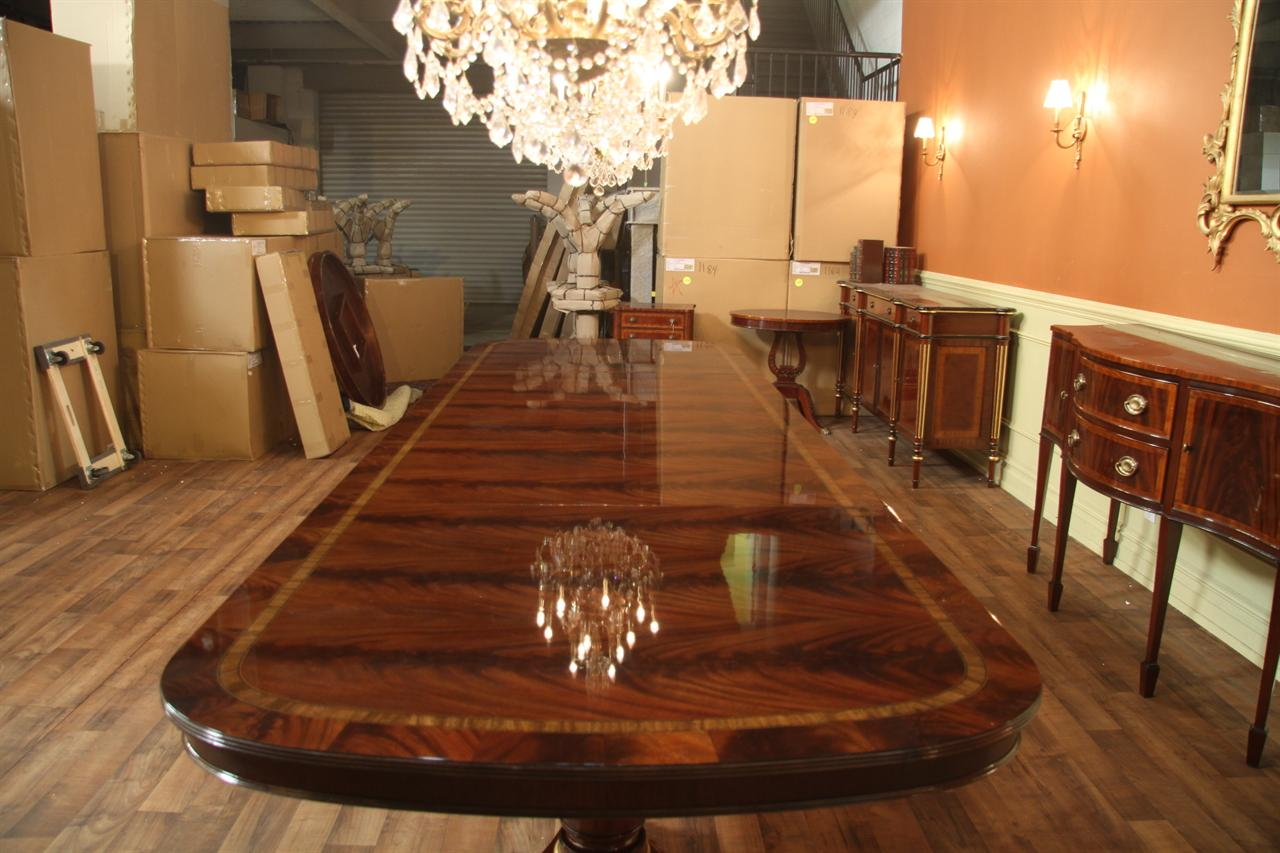 mahoganydining table large henredonreproduction p custom kitchen tables Table top view