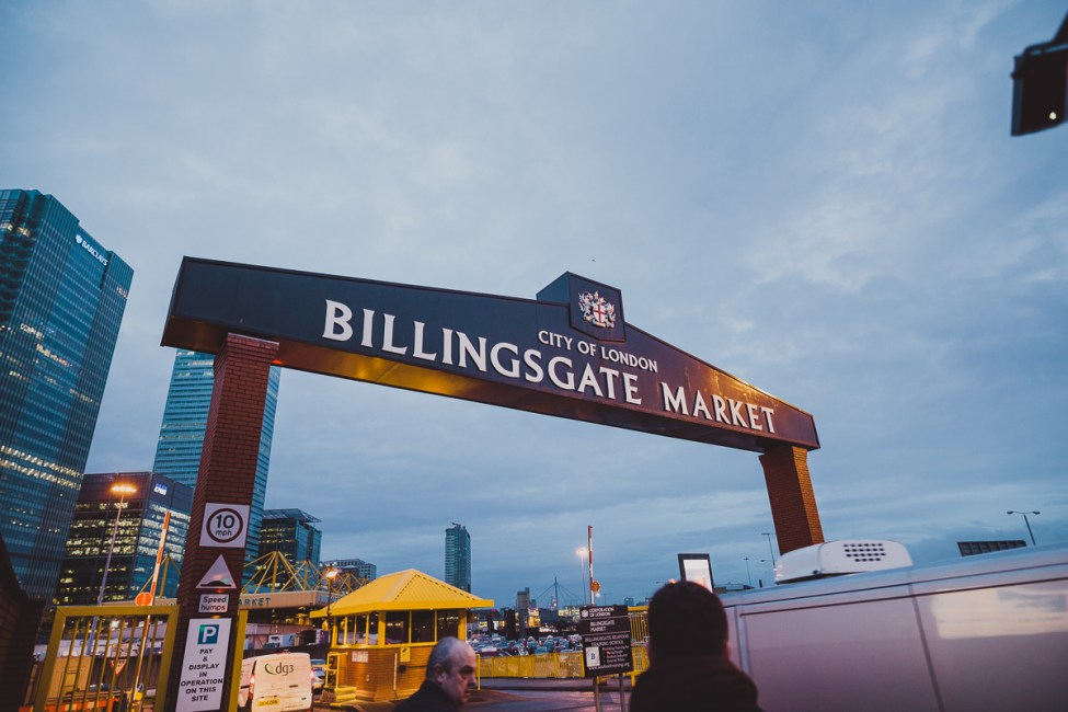 Bland fiskhandlare i Billingsgate