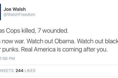 racist tweet obama killing war