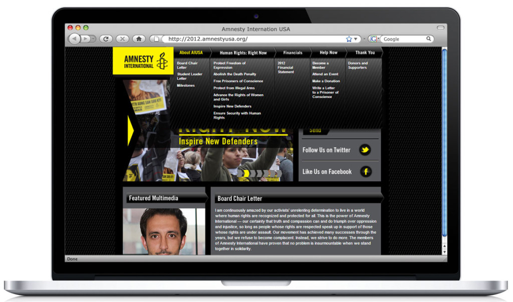 Amnesty International USA's Digital Annual Report.