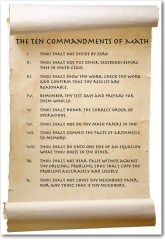 Ten Commandments of Math
