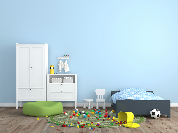 You're the parent, and it's fallen (unfortunately) into your hands to keep your kid's bedroom clean.  How do you do it, when it seems to explode into a mess as soon as you're done?