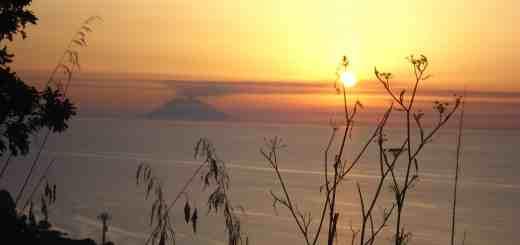 stromboli, tramonto, mare, italia
