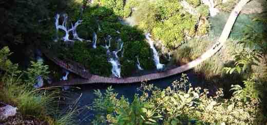 laghi di plitvice dall'alto
