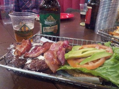 Avocado Club Burger & Summit Pilsner