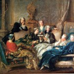 A reading of Molière, Jean François de Troy, about 1728. Via Wikimedia Commons.