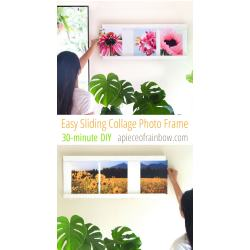 Antique Diy Frame Ideas Diy Frame Collage Part You Can Change All Photos Less Than Without Ever Taking This Frame Off Easy Sliding Collage Photo Frame Diy A Piece photos Diy Picture Frame