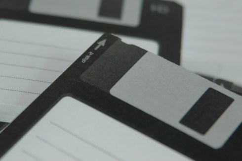 Floppy disk sticky notes