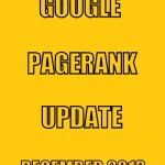 Google PageRank Update on December 2013