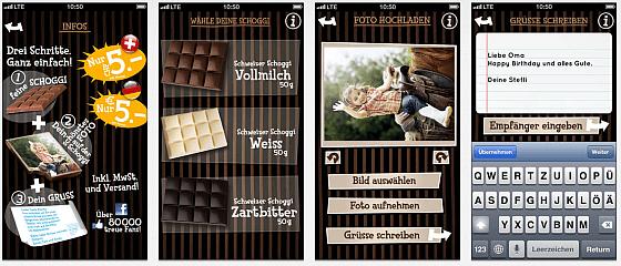Chocogreets jetzt auch in Österreich: Foto-Grüße auf Schokolade per Smartphone-App versenden