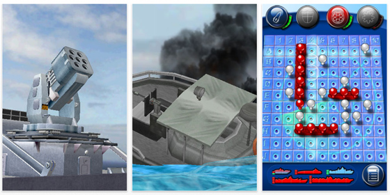 Viele Animationen in der App hauchen dem klassischen Schiffe versenken neues Leben ein