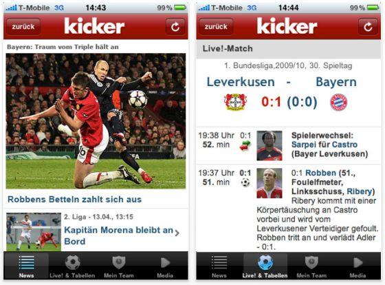 Screenshot kicker App für das iPhone