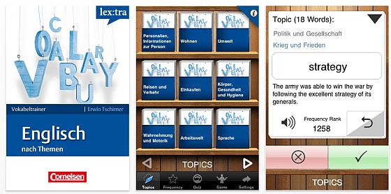Cornelsen app for Vokabeltrainer englisch