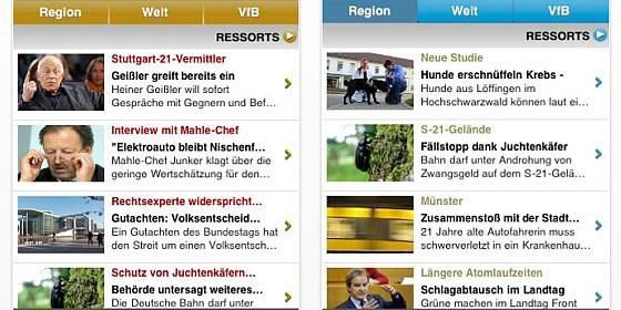 Stuttgarter Nachrichten und Stuttgarter Zeitung bringen kostenlose Nachrichten-Apps