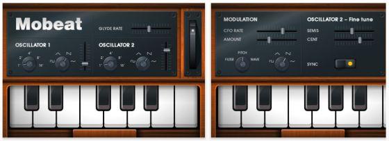 Mobeat Synthesizer für iPhone und iPod Touch
