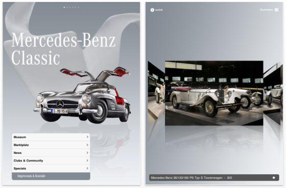 Mercedes-Benz Classic iPad-App