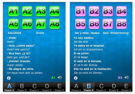 Spanisch lernen iPhone App Screenshot