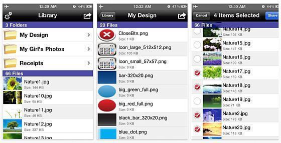 Private Photos Screenshot der iPhone-App