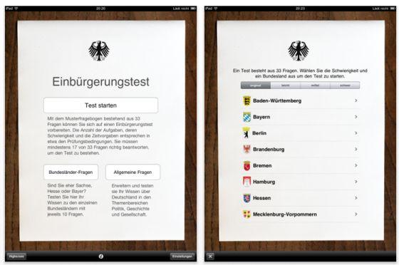 Einbürgerungstest D-Quiz Screenshot