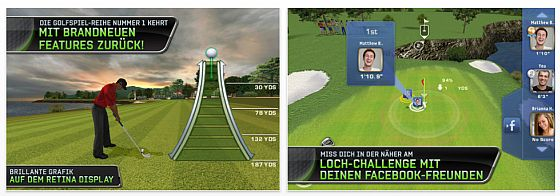 Tiger Woods PGA Tour 12 - Screenshots der App für iPhone und iPod Touch